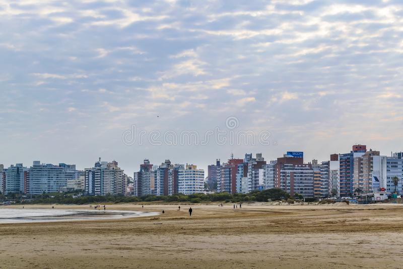 Malvin Beach Montevideo, Uruguay royaltyfria foton