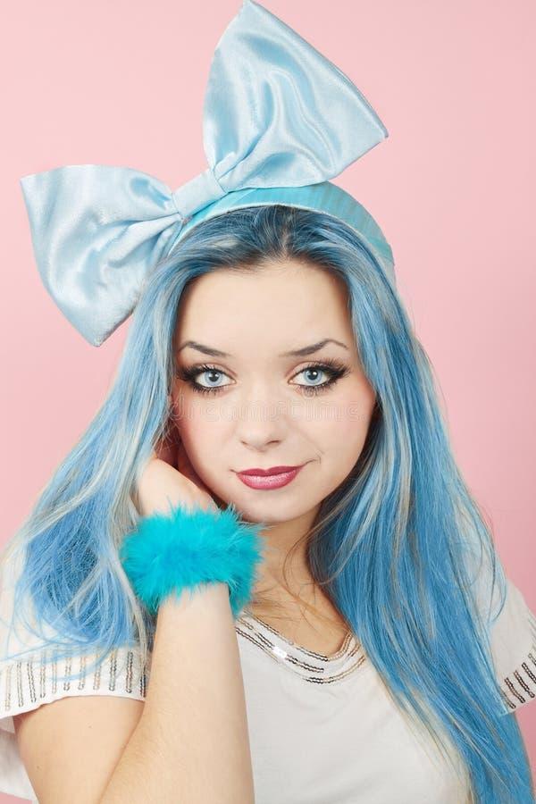 Free Malvina With The Blue Hair Stock Photos - 20235973