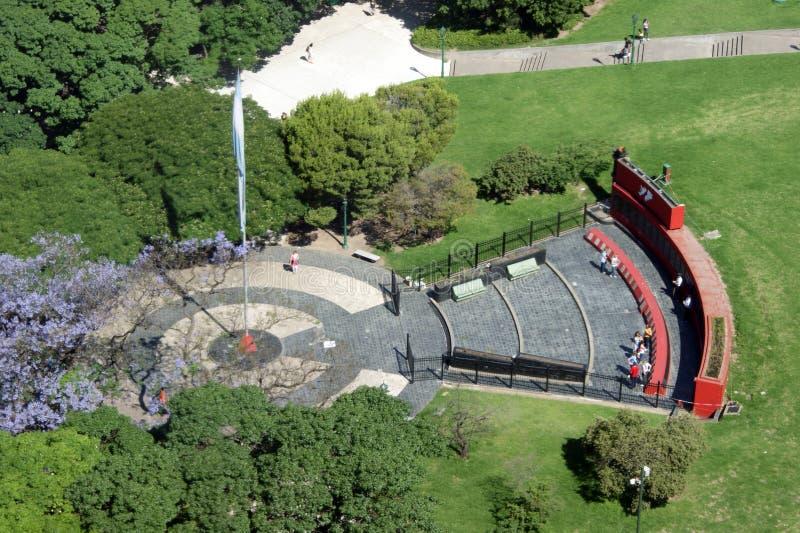 Malvinas memorial aerial view royalty free stock photos