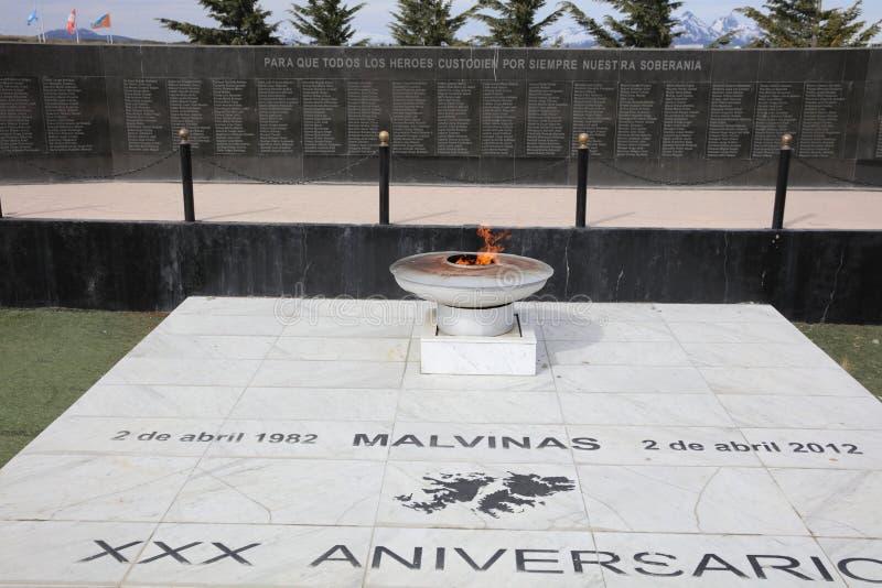 Malvinas War Memorial in Ushuaia. Argentina royalty free stock photos
