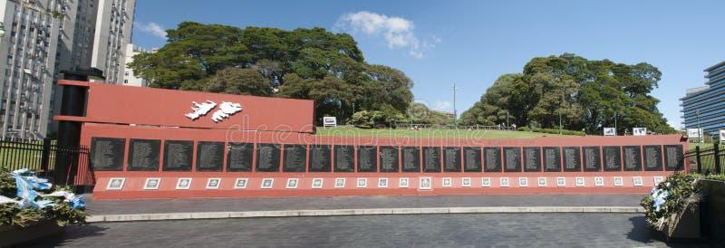 Malvinas Wojenny pomnik zdjęcie stock