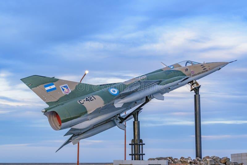 Malvinas Wojenny zabytek, Puerto San Juliański, Argentyna obraz royalty free