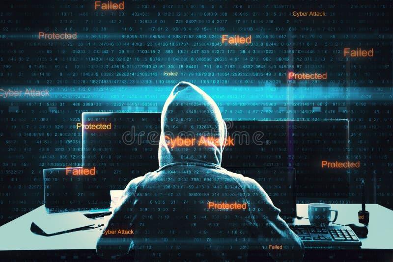 Malware и концепция нападения стоковое изображение rf