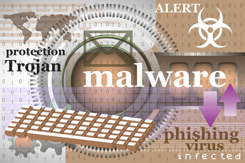Malware ilustração do vetor