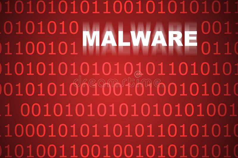 Malware Abstract Background vector illustration
