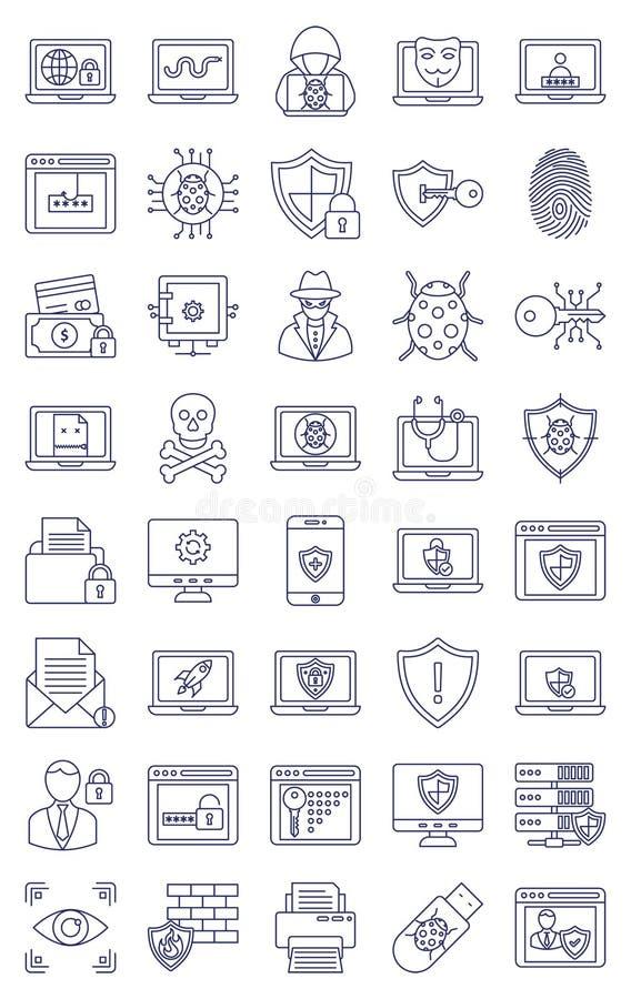 Malware en Antivirus Vector volledig editable Pictogram vector illustratie
