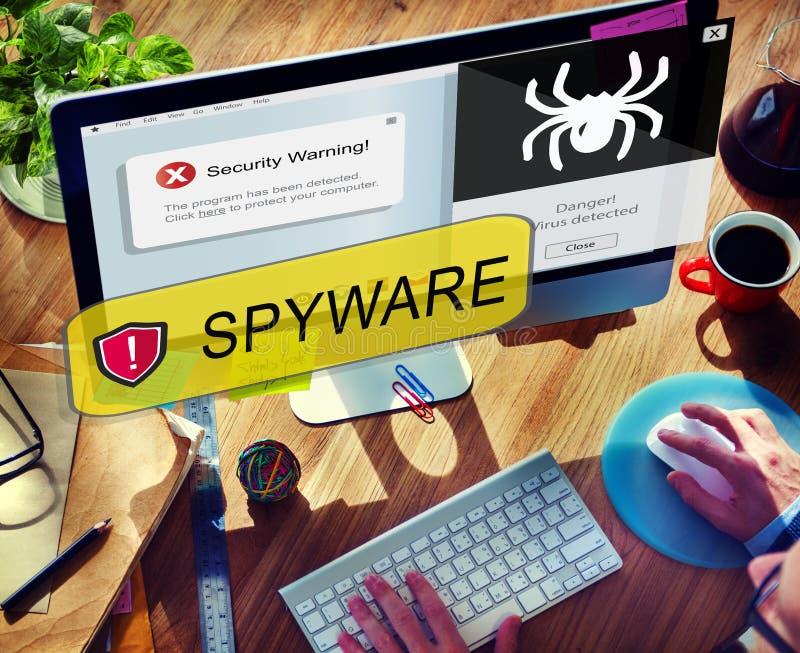 Malware för virus för Spywaredatoren hacker begrepp royaltyfria bilder