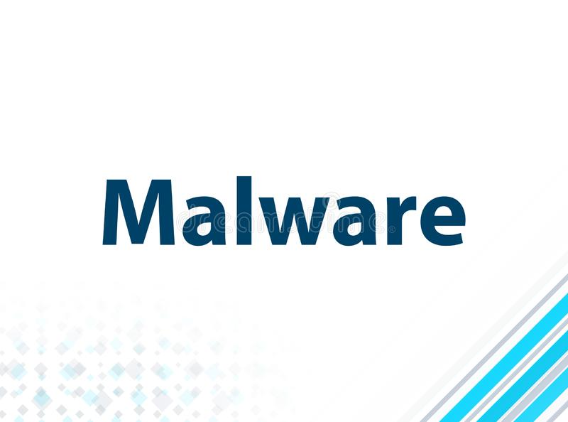 Malware Modern Flat Design Blue Abstract Background stock illustration