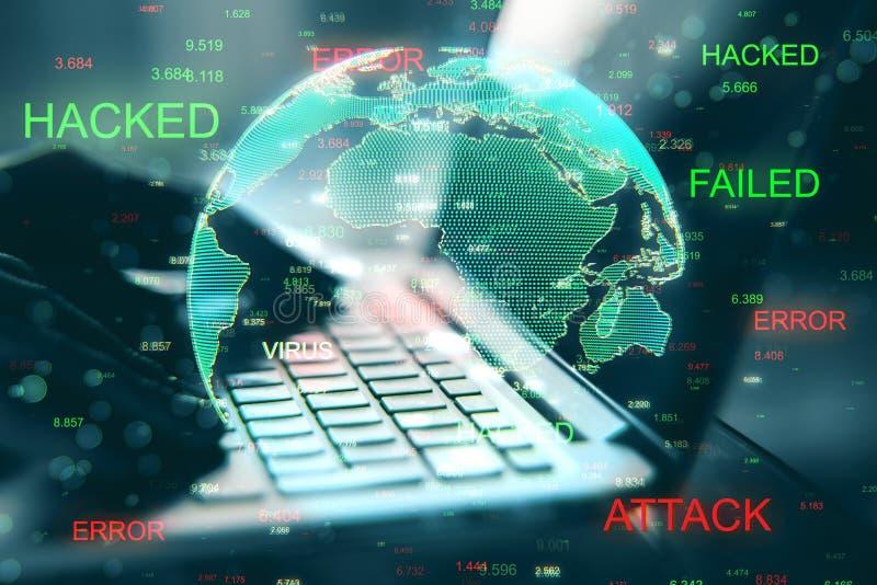 Malware och stöldbegrepp stock illustrationer