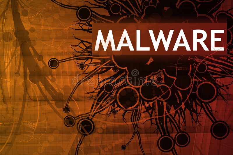 Malware Security Alert royalty free illustration