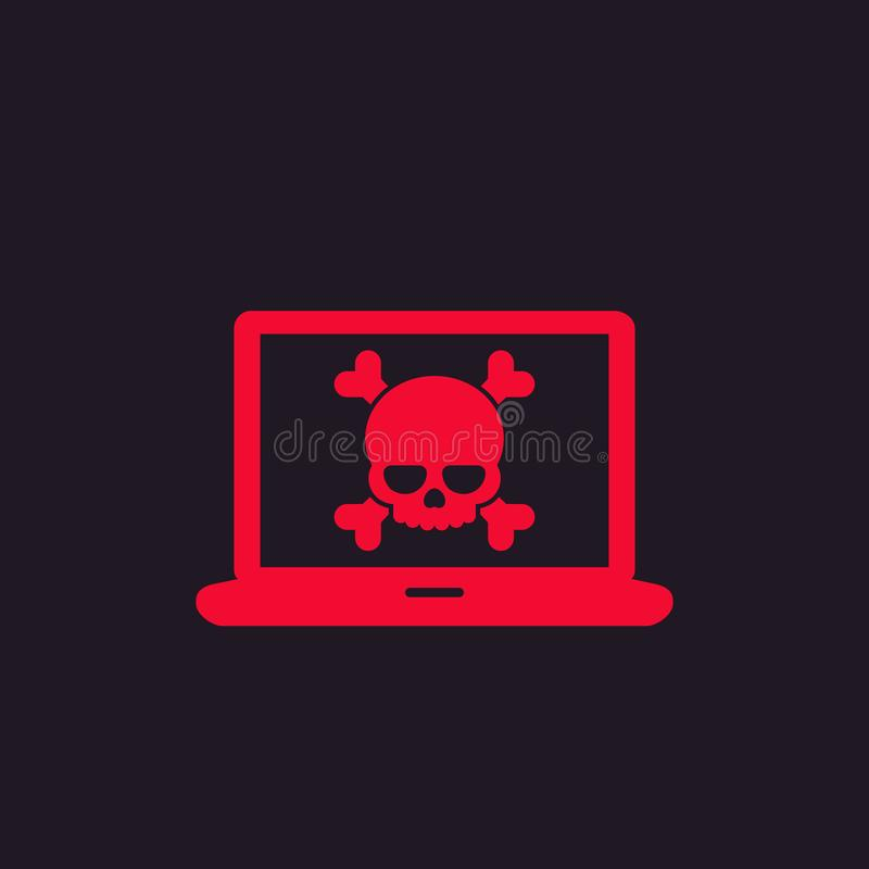 Malware, spam, online scam, computer virus icon. Eps 10 file, easy to edit stock illustration