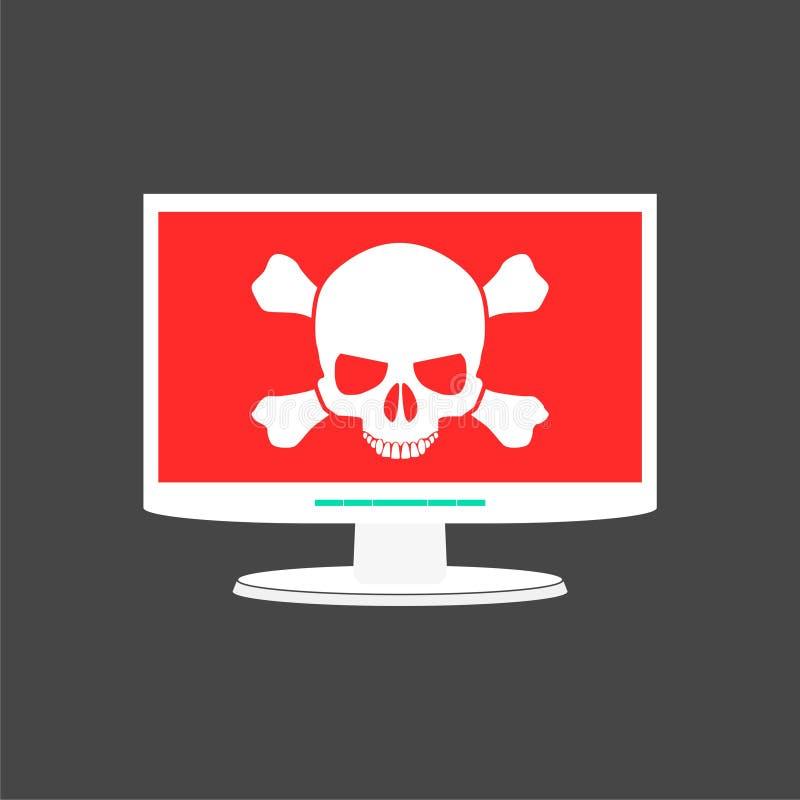 Malware, spam, online scam, computer virus. Simple vector illustration vector illustration