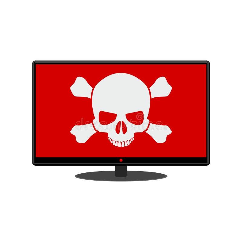 Malware, spam, online scam, computer virus. Simple vector illustration royalty free illustration