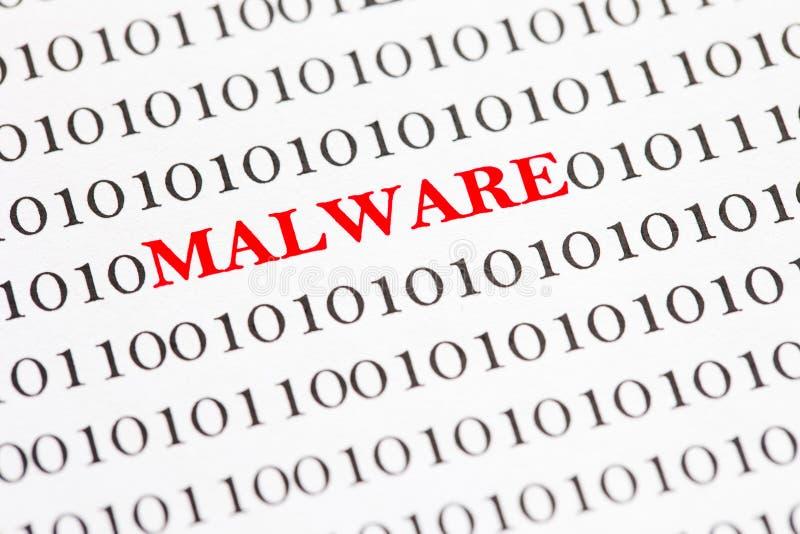 Malware sul codice binario fotografie stock libere da diritti