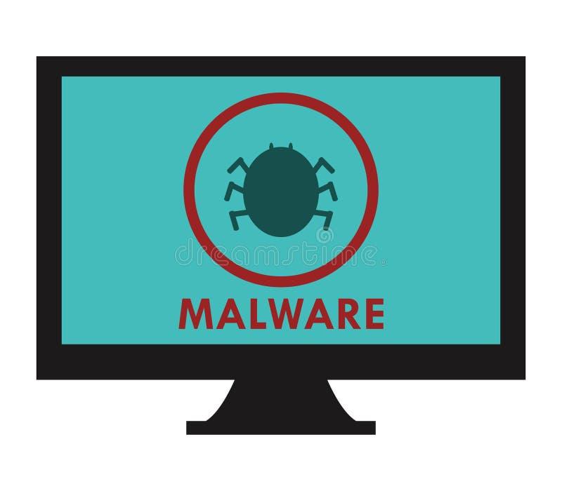 Malware sur l'ordinateur illustration libre de droits