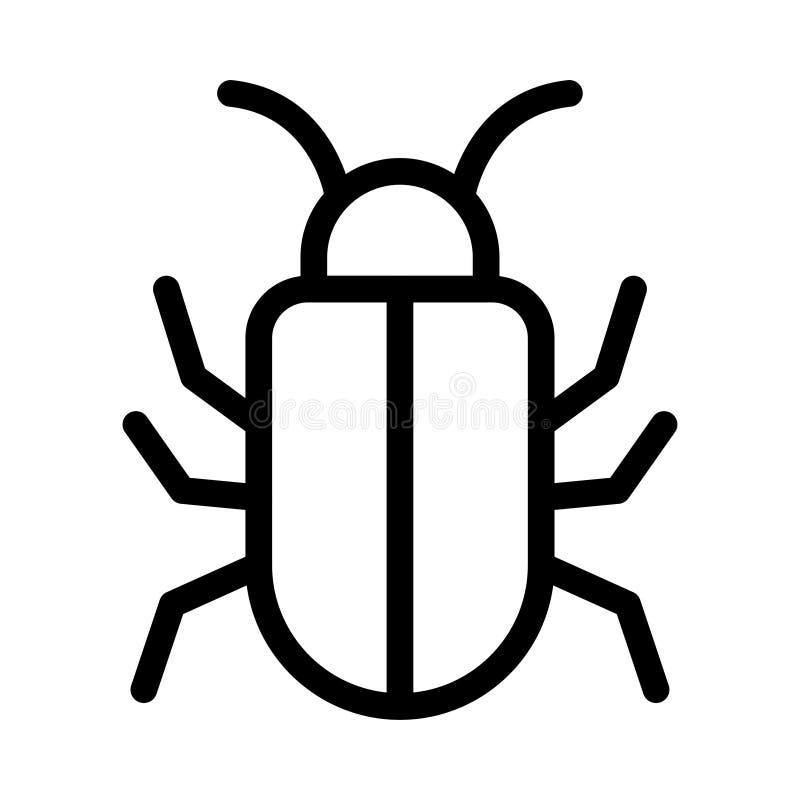 Malware vektorlinje symbol vektor illustrationer