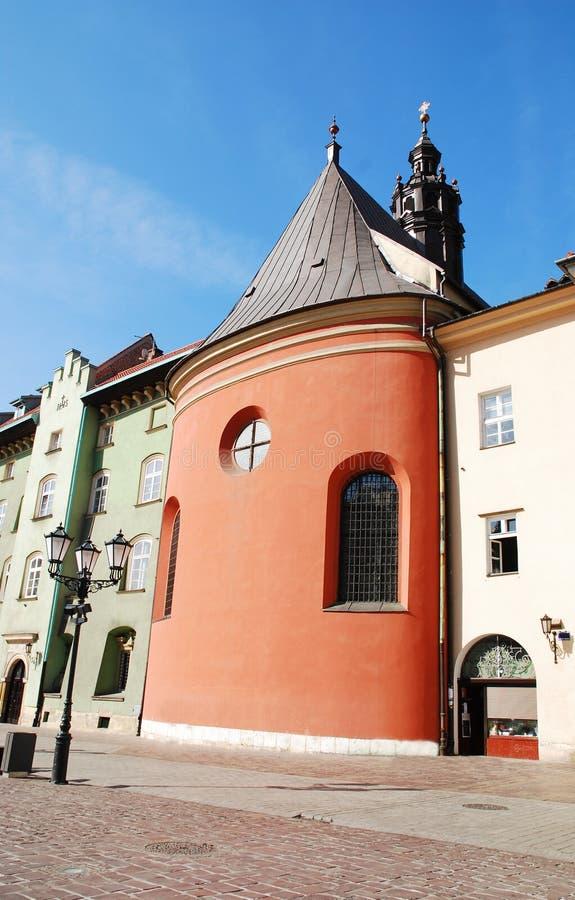 Maly Rynek a Cracovia, Polonia immagine stock libera da diritti