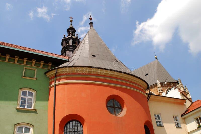 Maly Rynek a Cracovia, Polonia fotografia stock libera da diritti
