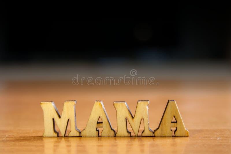 Mamá de la palabra fotografía de archivo libre de regalías