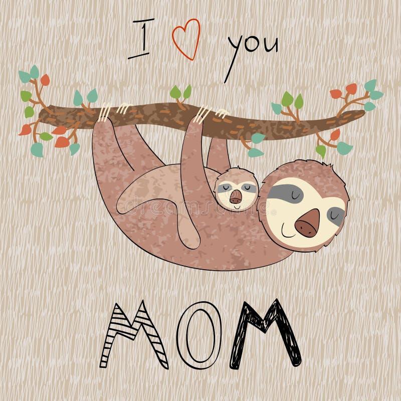 Mamã e bebê ilustração stock