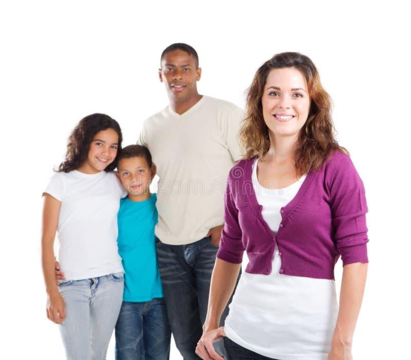 Mamã e família foto de stock