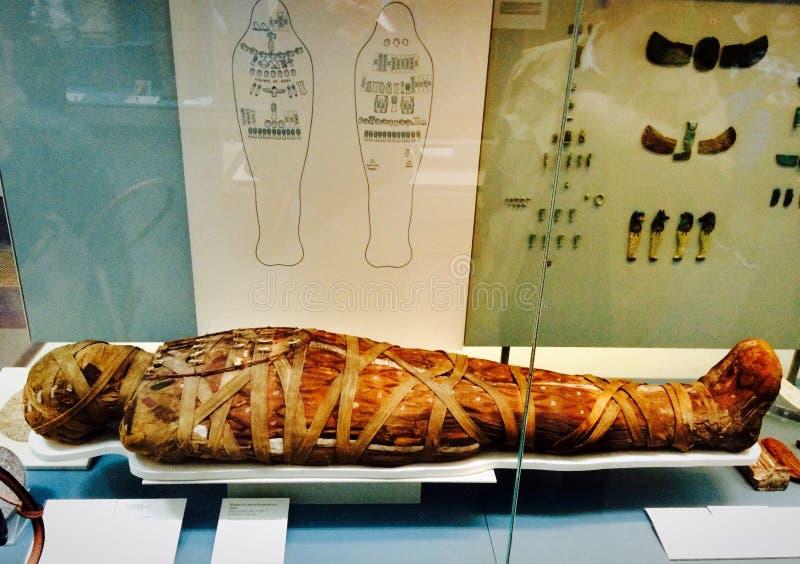 Mamã egípcia em British Museum em Londres foto de stock royalty free