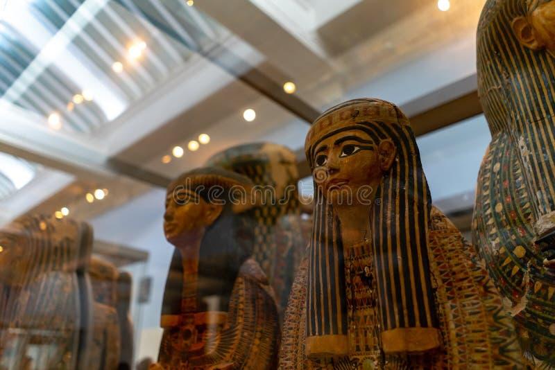 Mamã Egito, British Museum em Londres, Inglaterra, Reino Unido imagens de stock