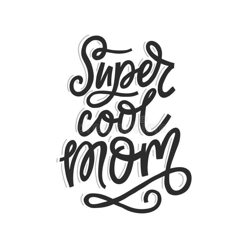Mamã fresca super ilustração stock