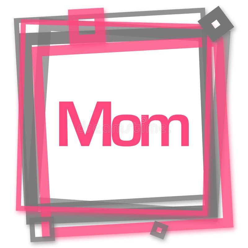 Mamã Grey Frame cor-de-rosa ilustração royalty free
