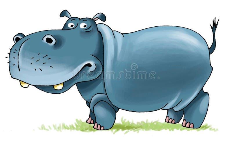 Mamífero fender-hoofed das narinas de África do hipopótamo ilustração do vetor