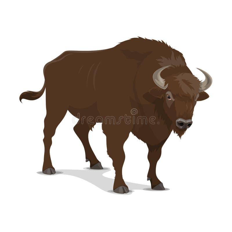 Mamífero salvaje del bisonte, cazando deporte stock de ilustración