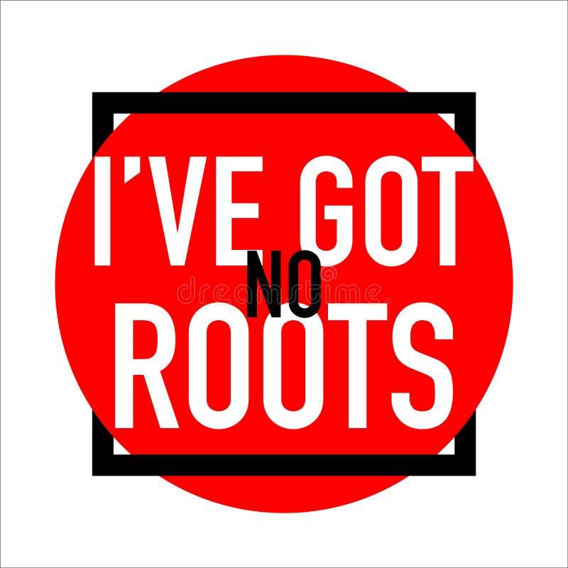 Mam żadny korzenia logo sztandaru abstrakt royalty ilustracja