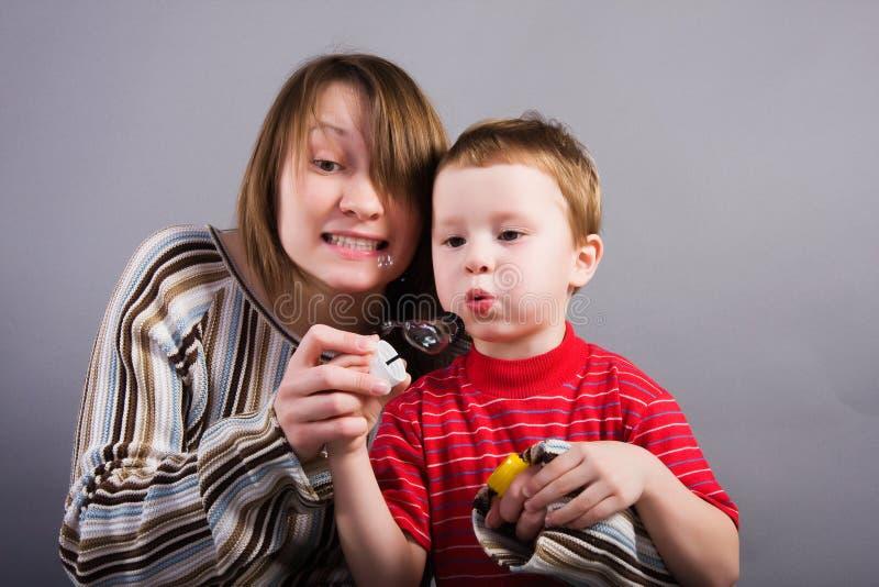 Mam e filho fotografia de stock royalty free