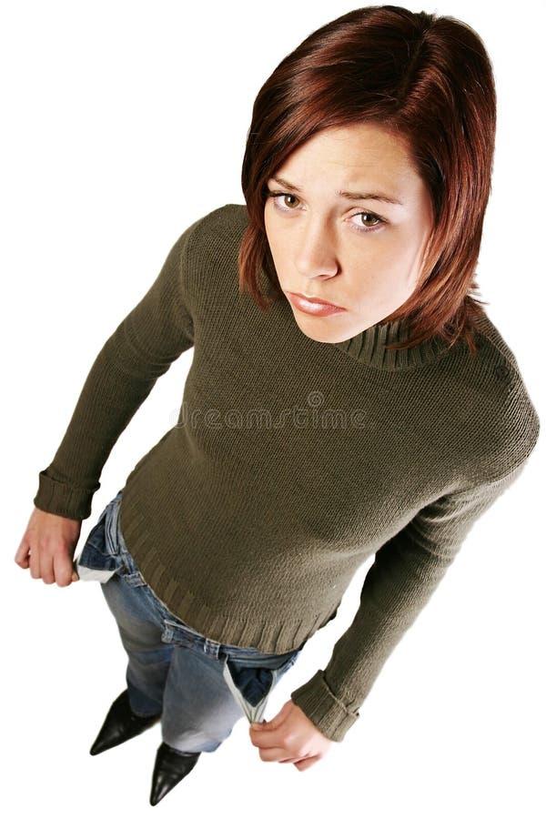 mam problem finansowy kobiety. zdjęcie stock
