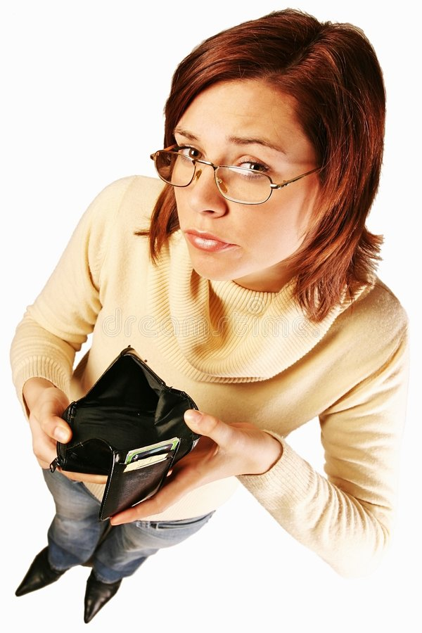 mam problem finansowy kobiety. obraz stock