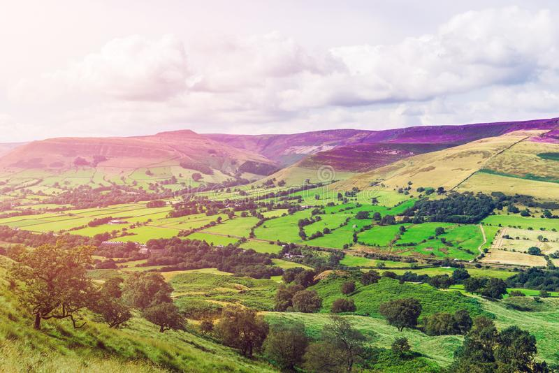 Mam Tor hill near Castleton and Edale in England, UK. Mam Tor hill near Castleton and Edale in the Peak District National Park, England, UK stock image