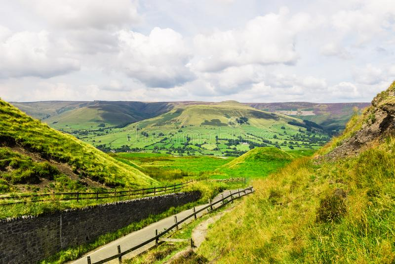 Mam Tor hill near Castleton and Edale in the Peak District National Park. England, UK stock photography