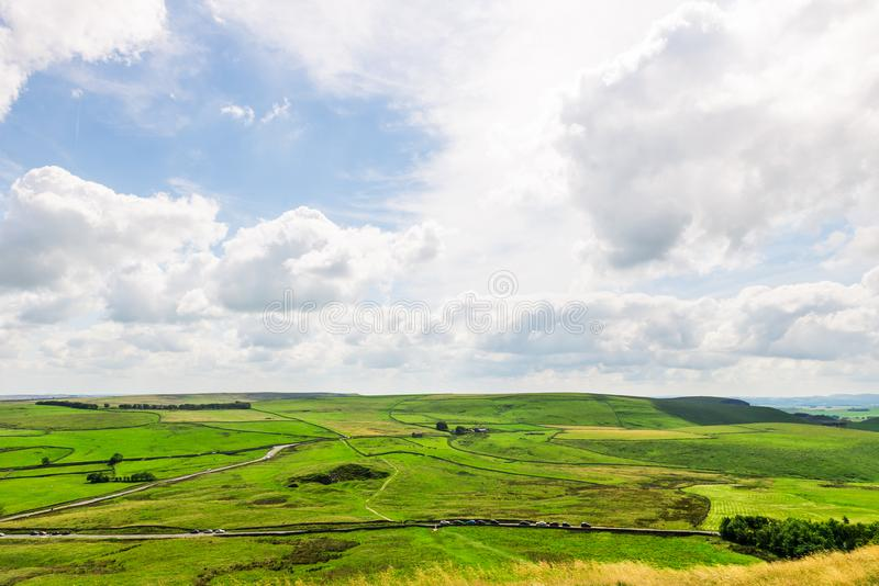 Mam Tor hill near Castleton and Edale in the Peak District National Park. England, UK royalty free stock images