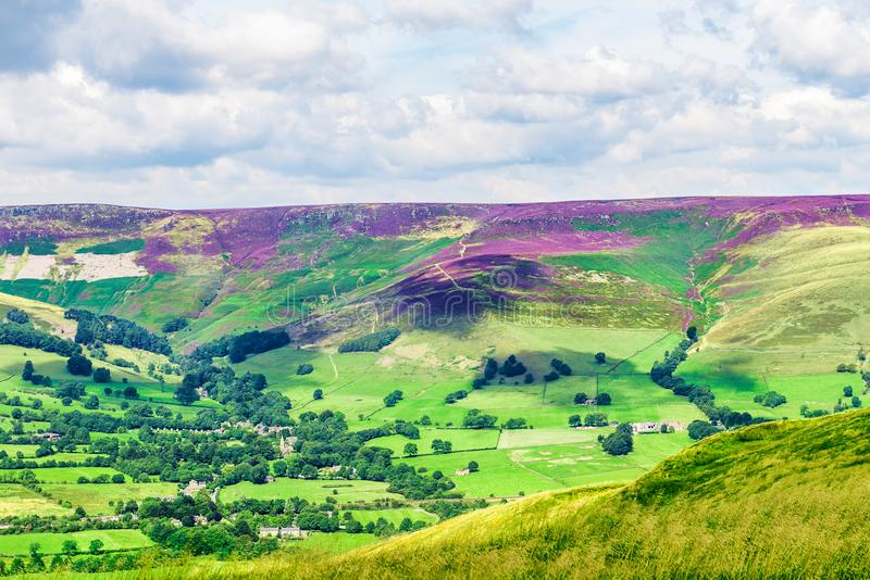 Mam Tor hill near Castleton and Edale in the Peak District Natio. Nal Park, England, UK royalty free stock photo
