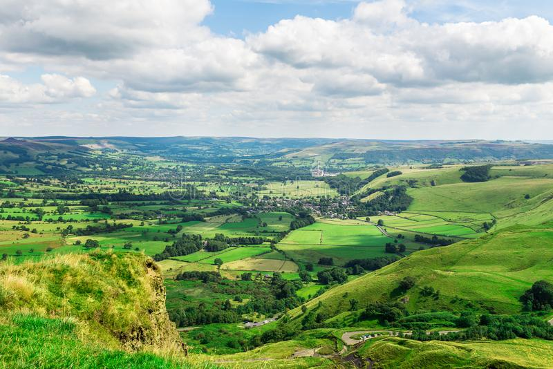 Mam Tor hill near Castleton and Edale in the Peak District Natio. Nal Park, England, UK royalty free stock images