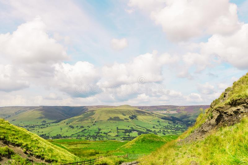 Mam Tor hill near Castleton and Edale in the Peak District National Park. England, UK royalty free stock photography