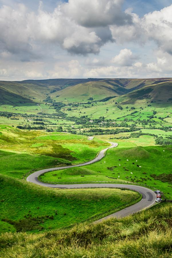 Mam Tor hill near Castleton and Edale in the Peak District Natio. Nal Park, England, UK royalty free stock image