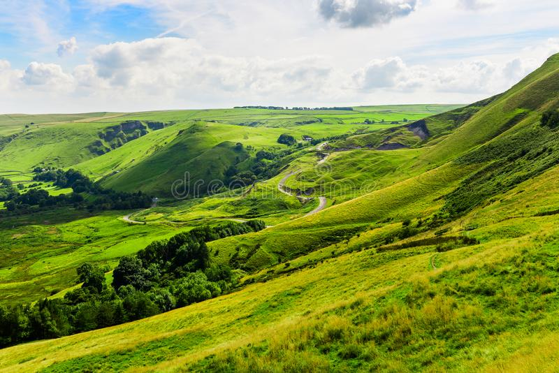 Mam Tor hill near Castleton and Edale in the Peak District Park. Mam Tor hill near Castleton and Edale in the Peak District National Park, England, UK royalty free stock image