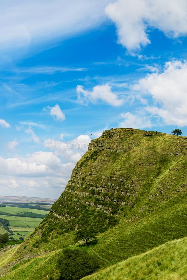 Mam Tor hill near Castleton and Edale in the Peak District Park. Mam Tor hill near Castleton and Edale in the Peak District National Park, England, UK stock photos