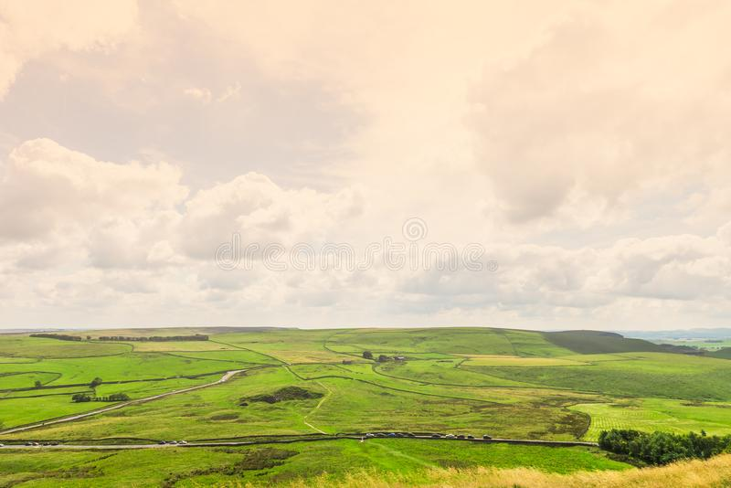 Mam Tor hill near Castleton and Edale in the Peak District National Park. England, UK stock photo