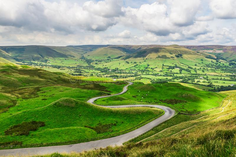 Mam Tor hill near Castleton and Edale in the Peak District Natio. Nal Park, England, UK royalty free stock photography