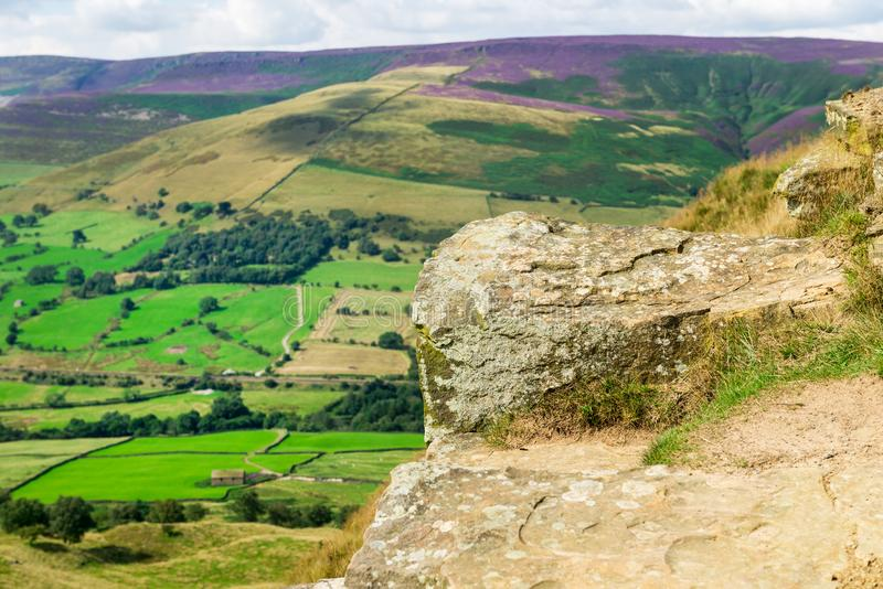 Mam Tor hill near Castleton and Edale in the Peak District Park. Mam Tor hill near Castleton and Edale in the Peak District National Park, England, UK royalty free stock photography