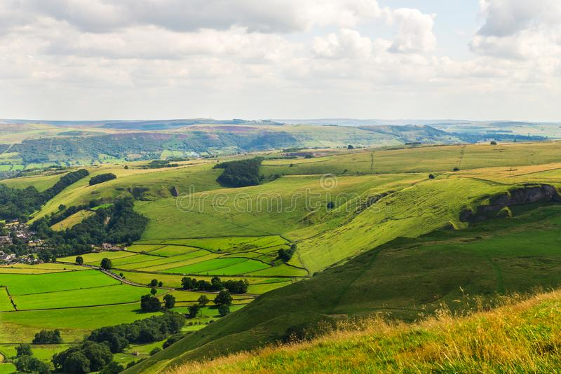 Mam Tor hill near Castleton and Edale in the Peak District Park. Mam Tor hill near Castleton and Edale in the Peak District National Park, England, UK royalty free stock photos