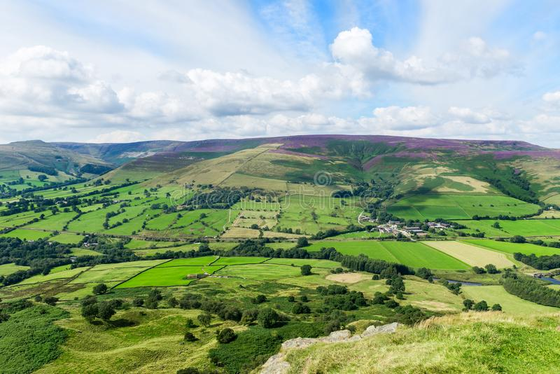 Mam Tor hill near Castleton and Edale in the Peak District Park. Mam Tor hill near Castleton and Edale in the Peak District National Park, England, UK stock image