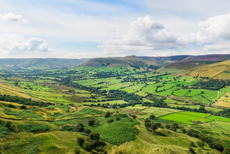 Mam Tor hill near Castleton and Edale in the Peak District Park. Mam Tor hill near Castleton and Edale in the Peak District National Park, England, UK stock photography
